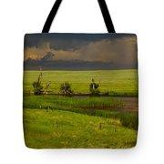 Storm Crossing Prairie 1 Tote Bag by Robert Frederick