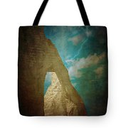 Storm Over Etretat Tote Bag by Loriental Photography