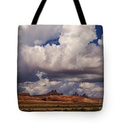Storm Over Monument Valley Tote Bag by Janice Rae Pariza