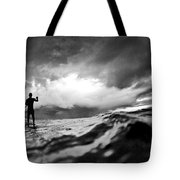 Storm paddler Tote Bag by Sean Davey