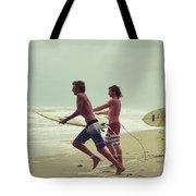 Storm Surfers Tote Bag by Laura Fasulo