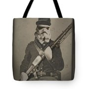 Storm Trooper Star Wars Antique Photo Tote Bag by Tony Rubino