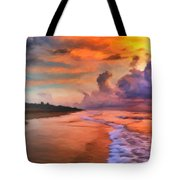 Stormy Skies Tote Bag by Michael Pickett