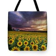 Stormy Sunrise Tote Bag by Debra and Dave Vanderlaan