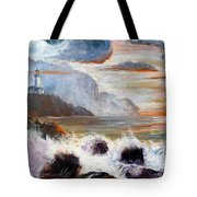 Stormy Sunset Tote Bag by Lee Piper