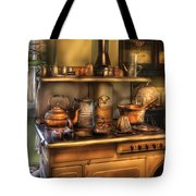 Stove - What's For Dinner Tote Bag by Mike Savad