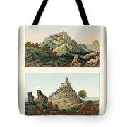 Strange abbeys in Portugal Tote Bag by Splendid Art Prints