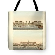 Strange Buildings In England Tote Bag by Splendid Art Prints