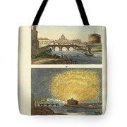Strange Buildings In Rome Tote Bag by Splendid Art Prints