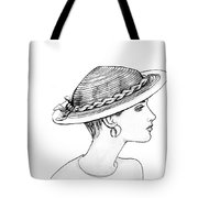 Straw Hat Tote Bag by Sarah Parks