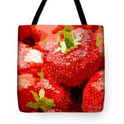 Strawberry Mosaic Tote Bag by Anne Gilbert
