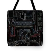 Street Scene In China Tote Bag by Barbie Corbett-Newmin
