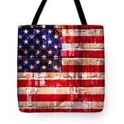 Street Star Spangled Banner Tote Bag by Delphimages Photo Creations