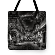 Streets Of Havana Bw Tote Bag by Erik Brede