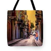 Streets Of San Juan Tote Bag by Karen Wiles