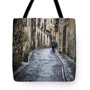 Streets Of Segovia Tote Bag by Joan Carroll