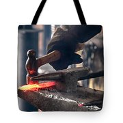 Strike While The Iron Is Hot Tote Bag by Trever Miller