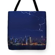 Strikes And Bolts In Nyc Tote Bag by Susan Candelario