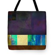 Stripes And Squares - Abstract -art Tote Bag by Ann Powell