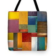Strips And Pieces Ll Tote Bag by Michelle Calkins