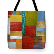 Strips and Pieces lll Tote Bag by Michelle Calkins