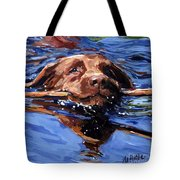 Strong Swimmer Tote Bag by Molly Poole