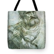 Study For An Apostle From The Last Supper Tote Bag by Leonardo da Vinci