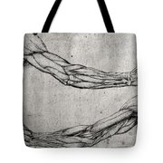 Study Of Arms Tote Bag by Leonardo Da Vinci