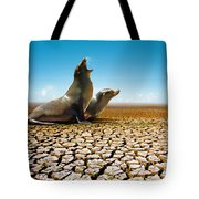 Suffering Seals Tote Bag by Carlos Caetano