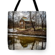 Sugar Shack In Deep River County Park Tote Bag by Paul Velgos