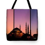 Suleymaniye Sundown Triptych 02 Tote Bag by Rick Piper Photography