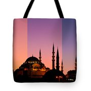 Suleymaniye Sundown Triptych 05 Tote Bag by Rick Piper Photography