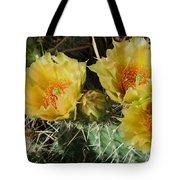 Summer Cactus Blooms Tote Bag by Kae Cheatham