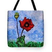 Summer Day Poppy Tote Bag by Sarah Loft