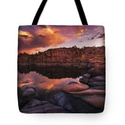 Summer Dells Sunset Tote Bag by Peter Coskun