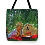 Summer Reading Tote Bag by Jane Schnetlage