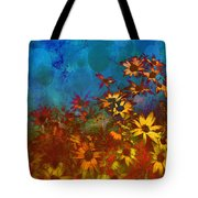 Summer Sizzle Abstract Flower Art Tote Bag by Ann Powell