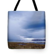 Summer Storm Over The Lake Tote Bag by Skip Nall