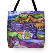 Summer Time and The Living Is Easy Tote Bag by Dianne  Connolly