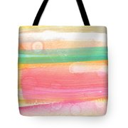 Sunday In The Park- Contemporary Abstract Painting Tote Bag by Linda Woods