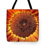 Sunflower Burst Tote Bag by Kerri Mortenson
