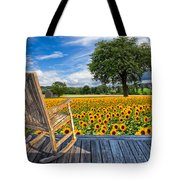 Sunflower Farm Tote Bag by Debra and Dave Vanderlaan