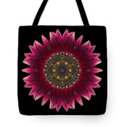 Sunflower Moulin Rouge I Flower Mandala Tote Bag by David J Bookbinder