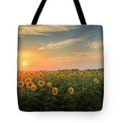 Sunflower Sundown Tote Bag by Bill Wakeley