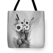 Sunflowers In A Basket Tote Bag by Christine Till