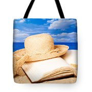 Sunhat In Sand Tote Bag by Amanda And Christopher Elwell