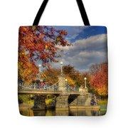 Sunkissed Lagoon Bridge Tote Bag by Joann Vitali