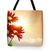 Sunrays Flowers Tote Bag by Carlos Caetano