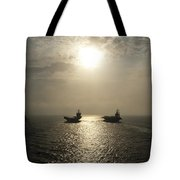 Sunrise At Sea Tote Bag by Mountain Dreams