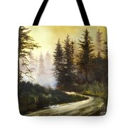 Sunrise In The Forest Tote Bag by Lee Piper
